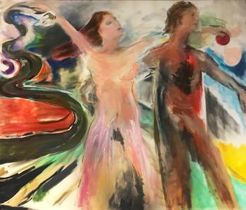Adam and Eve 2019 64H x 76L - Lauralee Franco